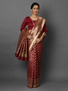 heavy work Kanjivaram sarees for winter